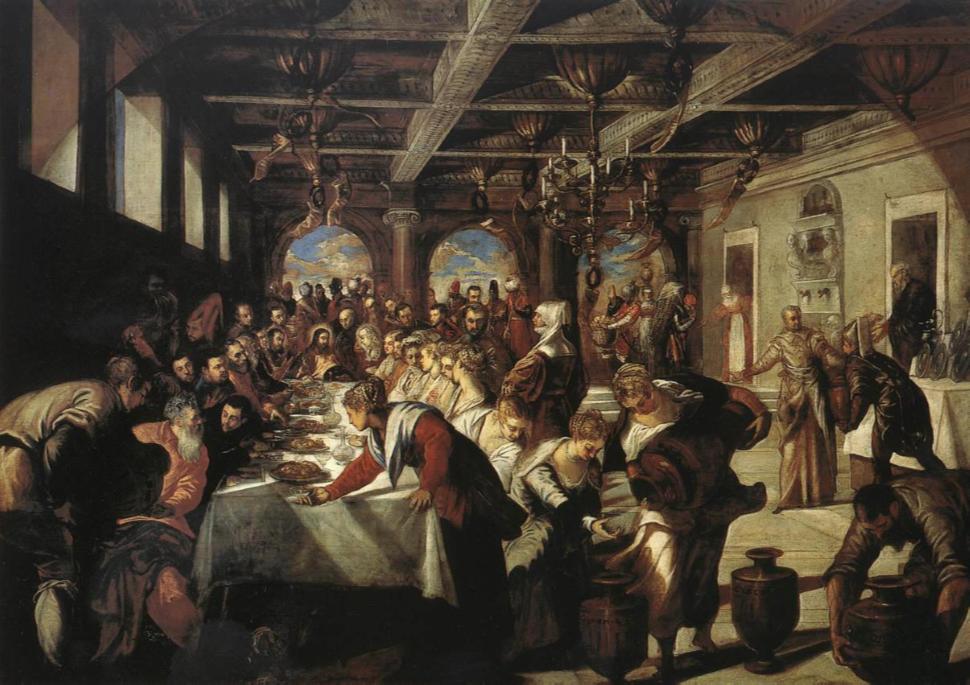 LE NOZZE DI CANA  (1561) – JACOPO TINTORETTO