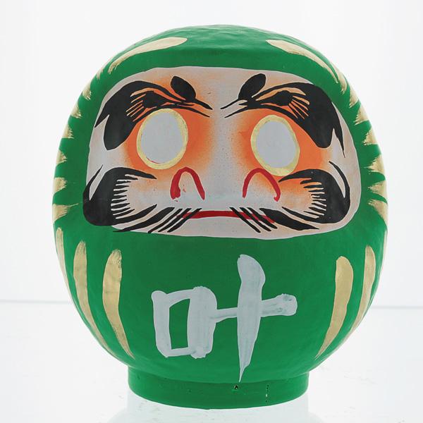 Green Daruma Doll