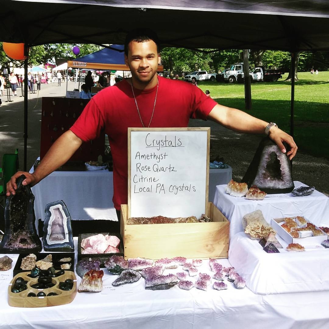 Laquan Williams vending at a crystal show in Philadelphia - 2016