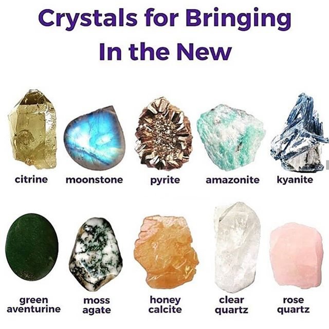 💫Some stones urge us to let go while inviting new beginnings🌈💎🕉✨❤ #regram: @moonlit_crystals111
