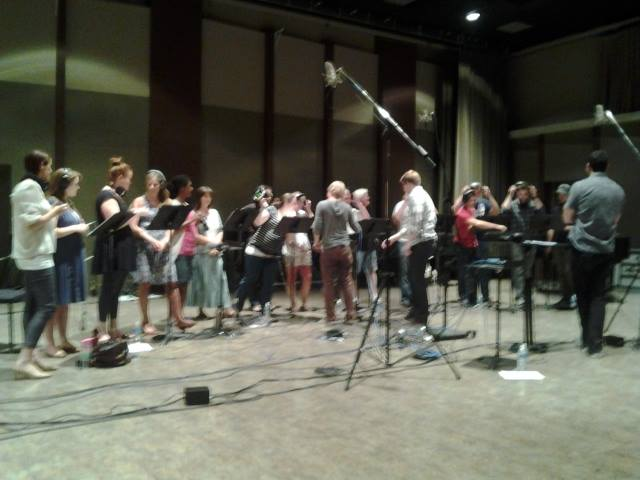 One of Caress' photos from our day tracking choirs and soloists.