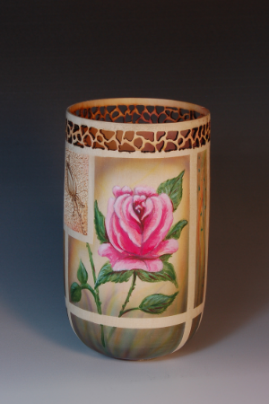 Joyce McCullough's Pierced, Textured and Airbrushed Vessel