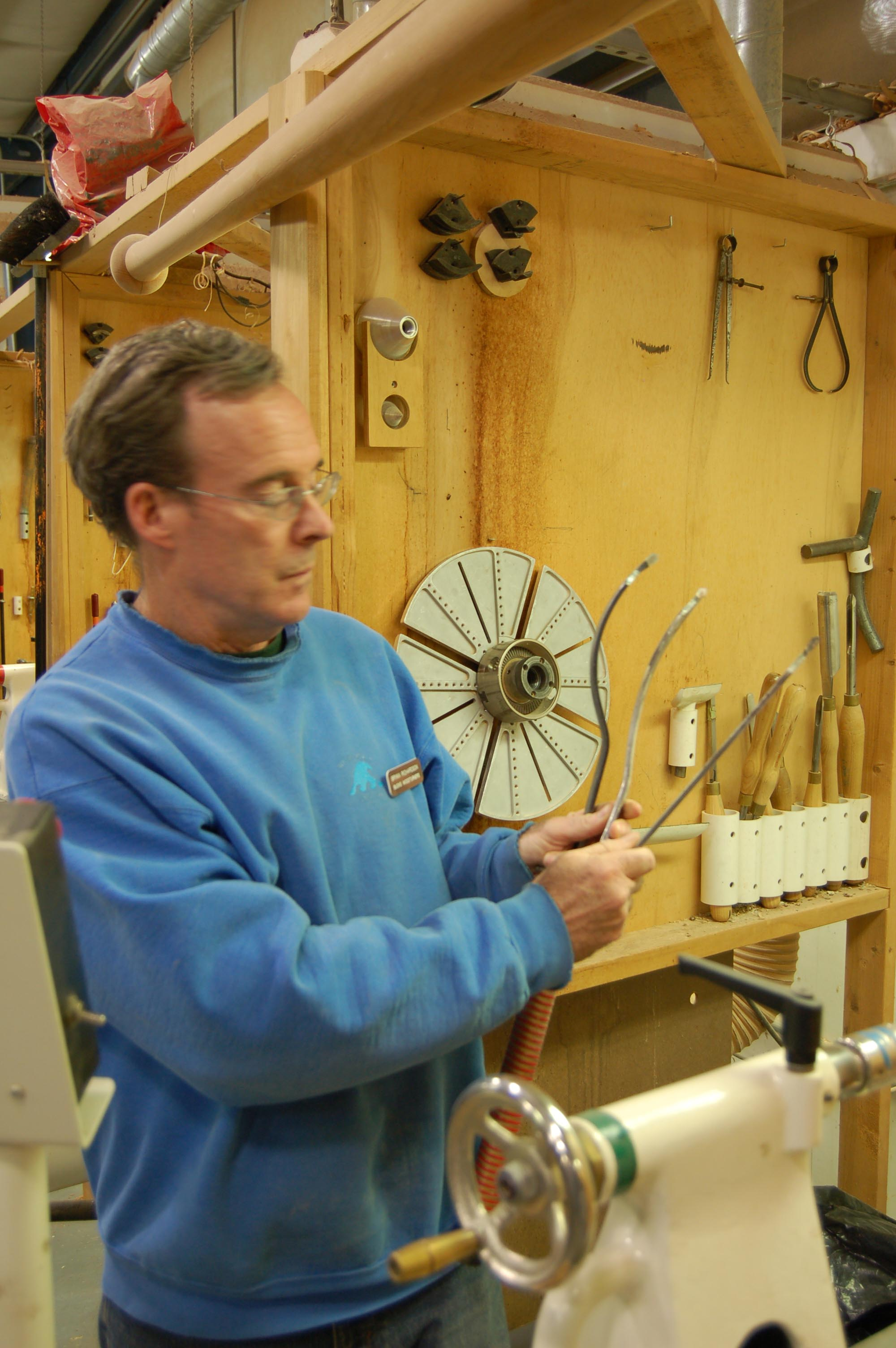 Bryan shows a couple of his go-to coring tools.