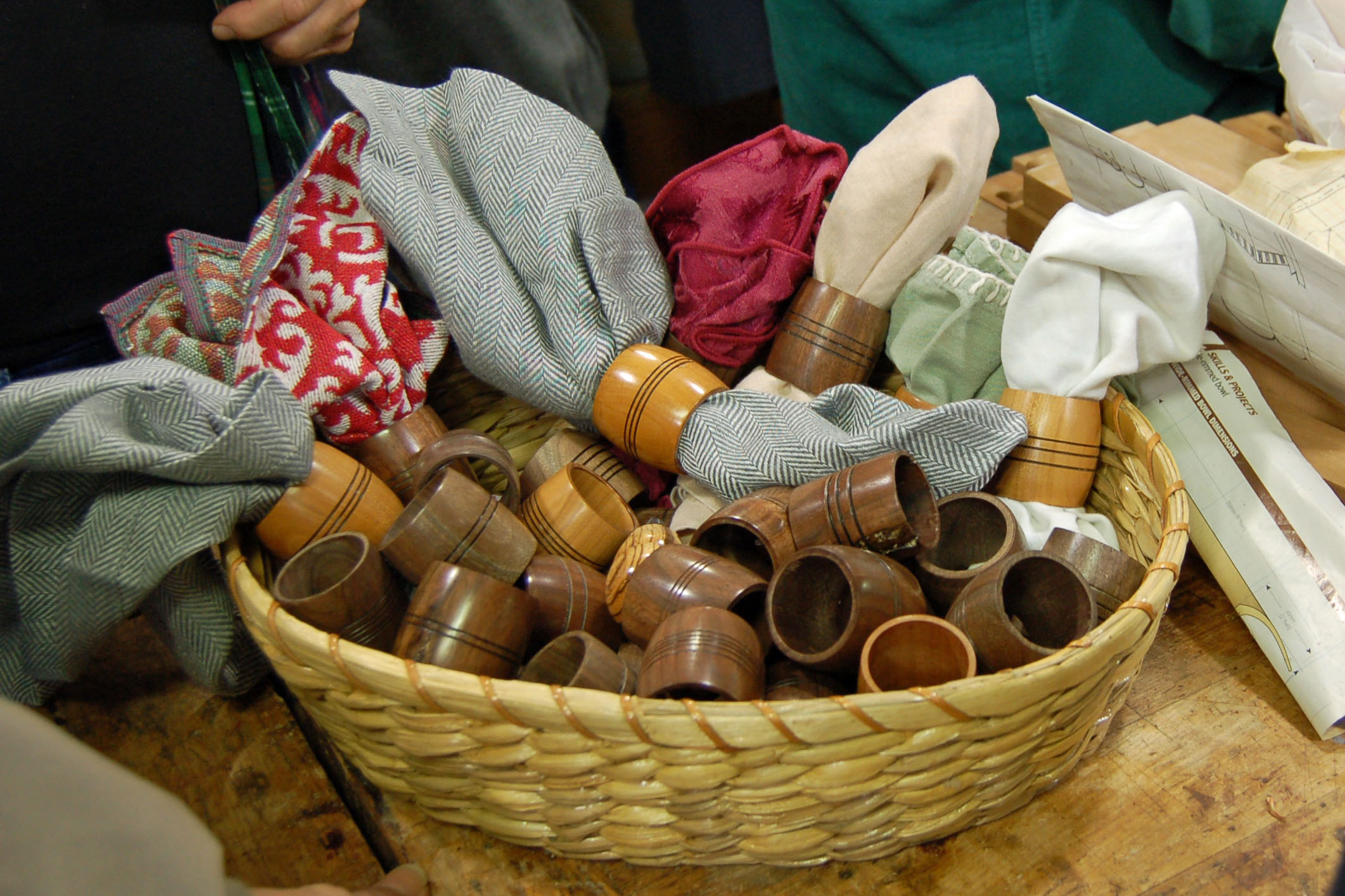 Here are some napkin rings some of Ed's young students turned.