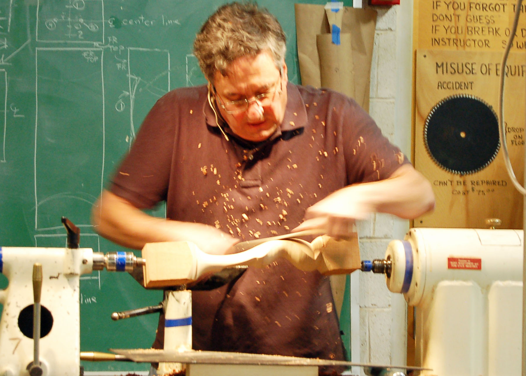 The lathe makes a good vise for holding your work.