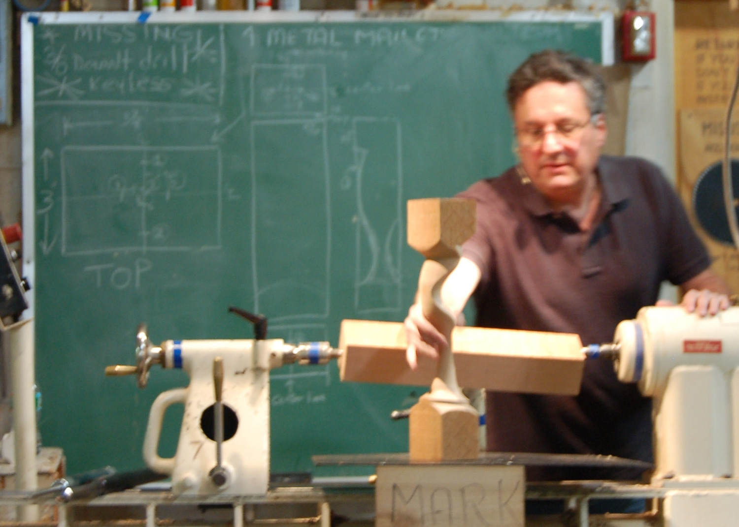 The shape Mark will demonstrate. The blank is mounted off-axis on the lathe.