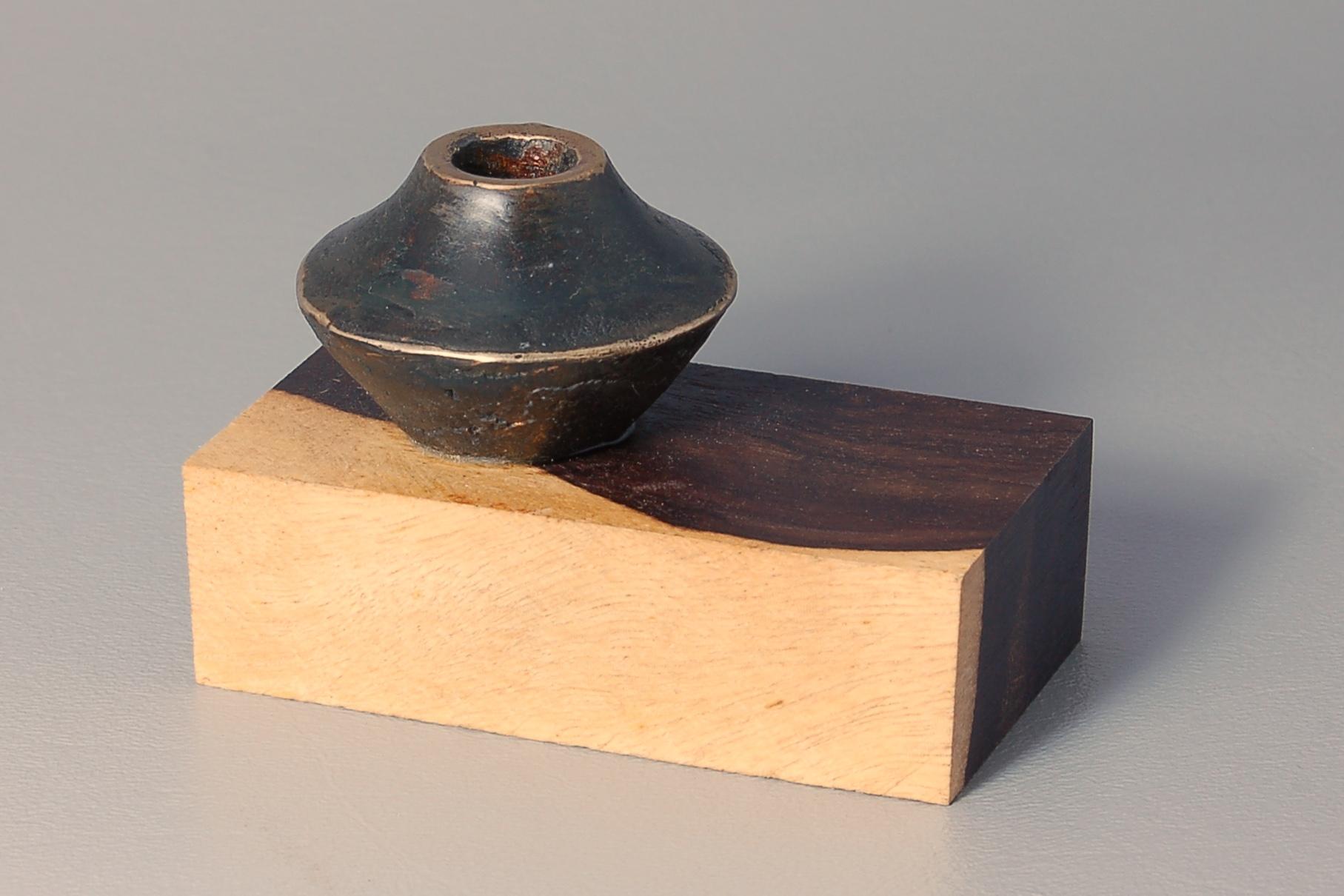 """Cast Pot"" Ron Gerton, Joe Seltzer Silicon Bronze and Blackwood, 2015"