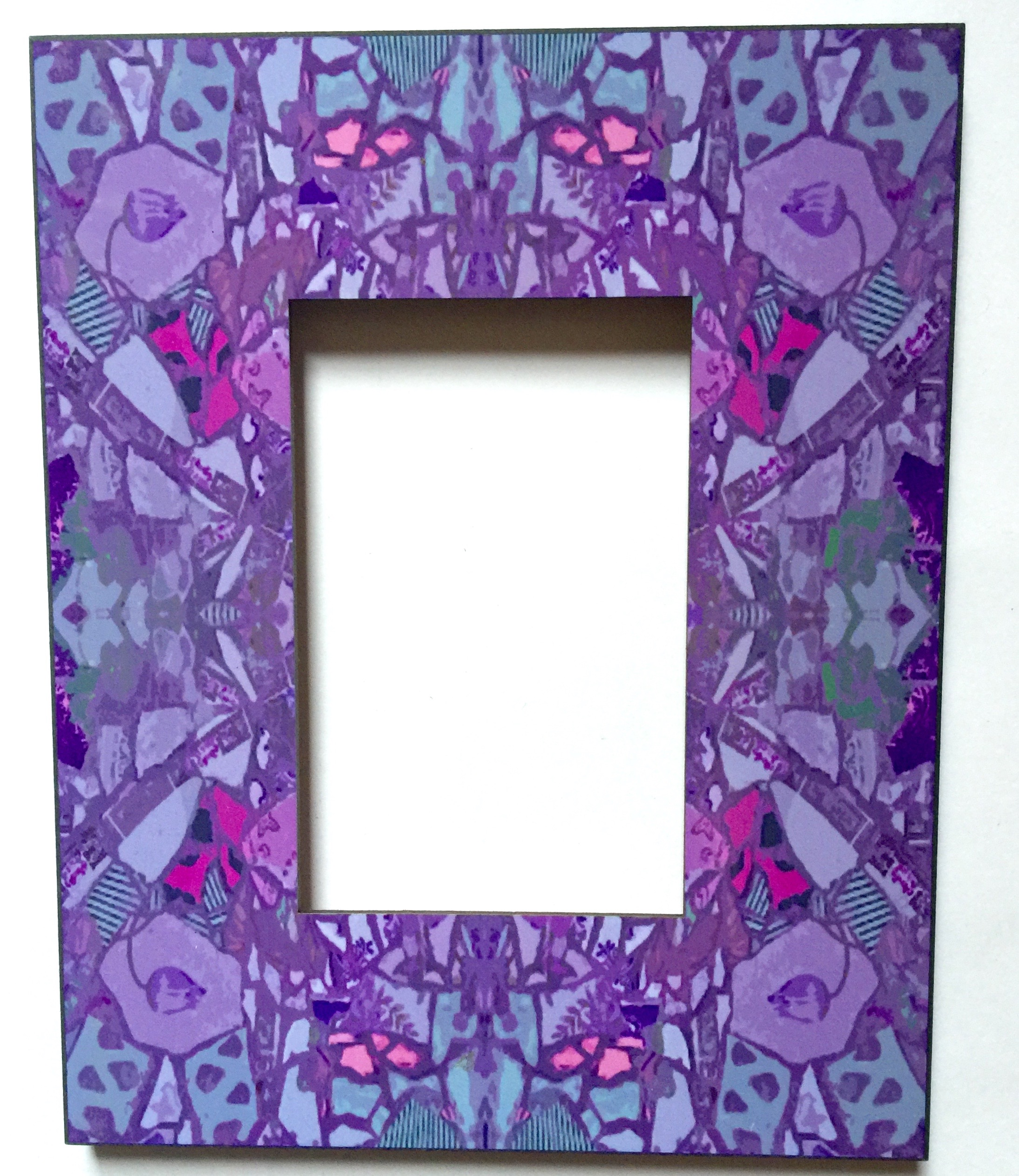 Purple Printed Frame 4x6 $65