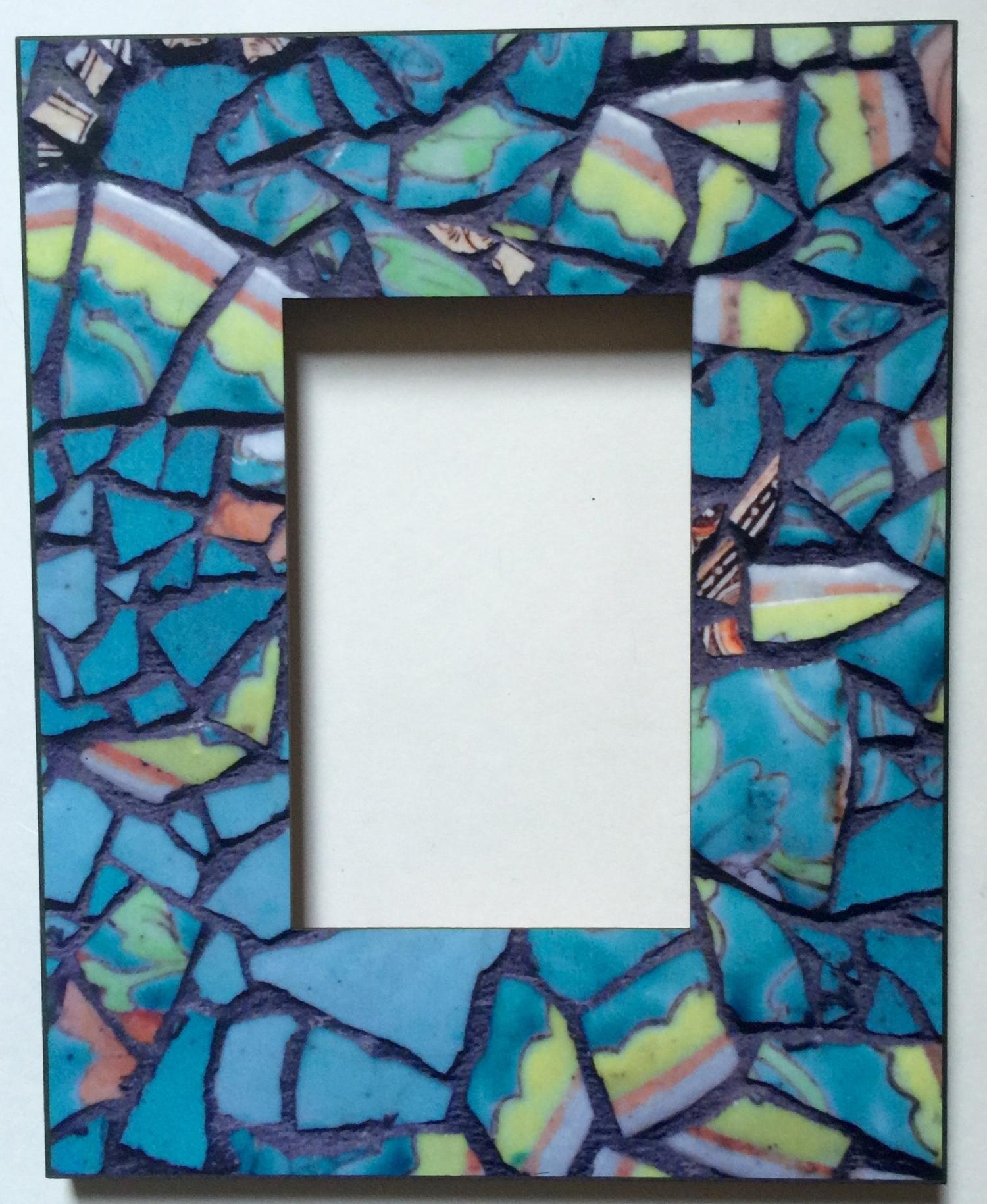 Mosaic Printed Frame 4x6 $65