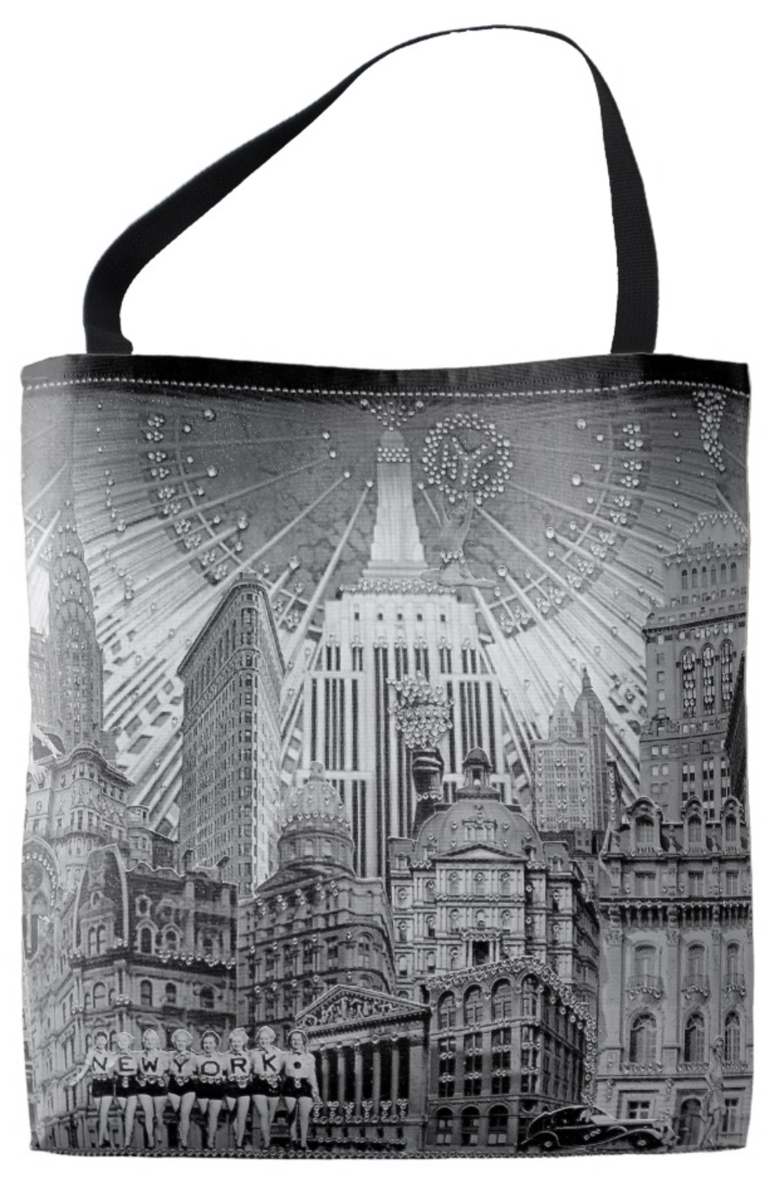 Add a little Style and Glamour to your next shopping trip with the  New York Dolls /Angelic New York earth-friendly Tote Bag!