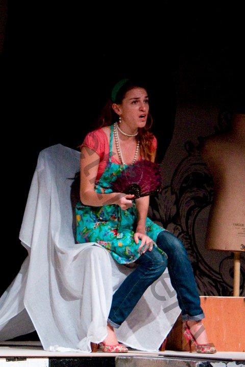 In rehearsal for The  Marriage of Figaro , Taylor Ott as Susanna, Opera Nova, 2011