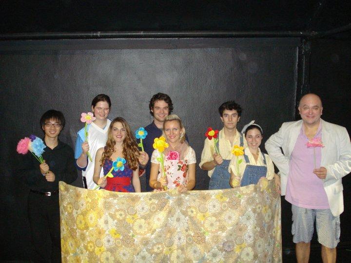 The cast of La Finta Giardiniera , Taylor Ott as Arminda, Opera at Home, 2010