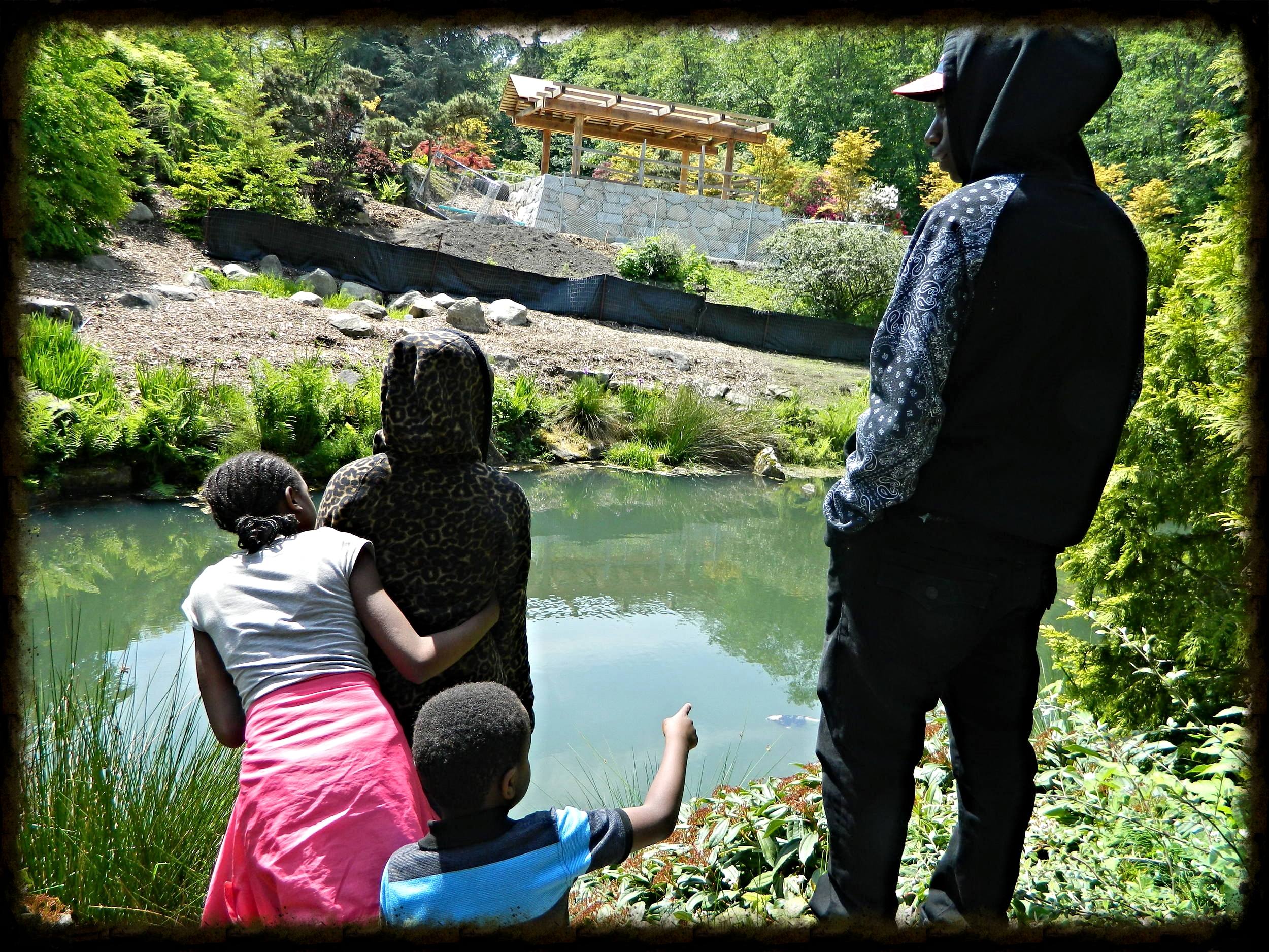 Occasionally the children and youth come together for activities such as going to Kubota Gardens near the church.