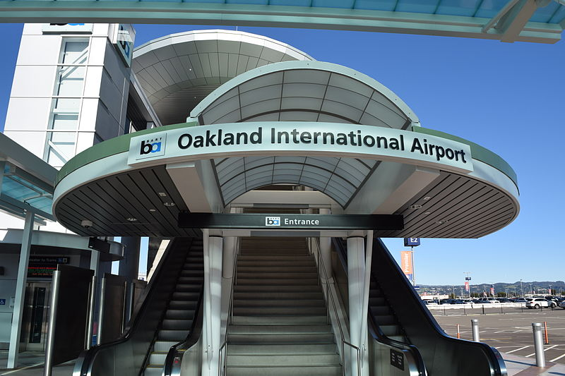 Oakland International Airport - You can take the bart train. This airport is close enough to take an UBER.