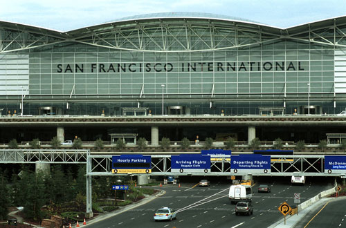 San Francisco International Airport - We suggest you take the Bart Train. Pittsburgh Bay Point Line to MacArthur Bart.