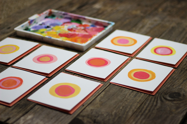 Peach Painted Note Cards from Mads Beaulieu