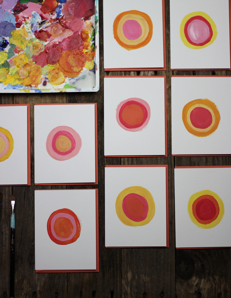 Painted Circles - Notecards by Mads Beaulieu