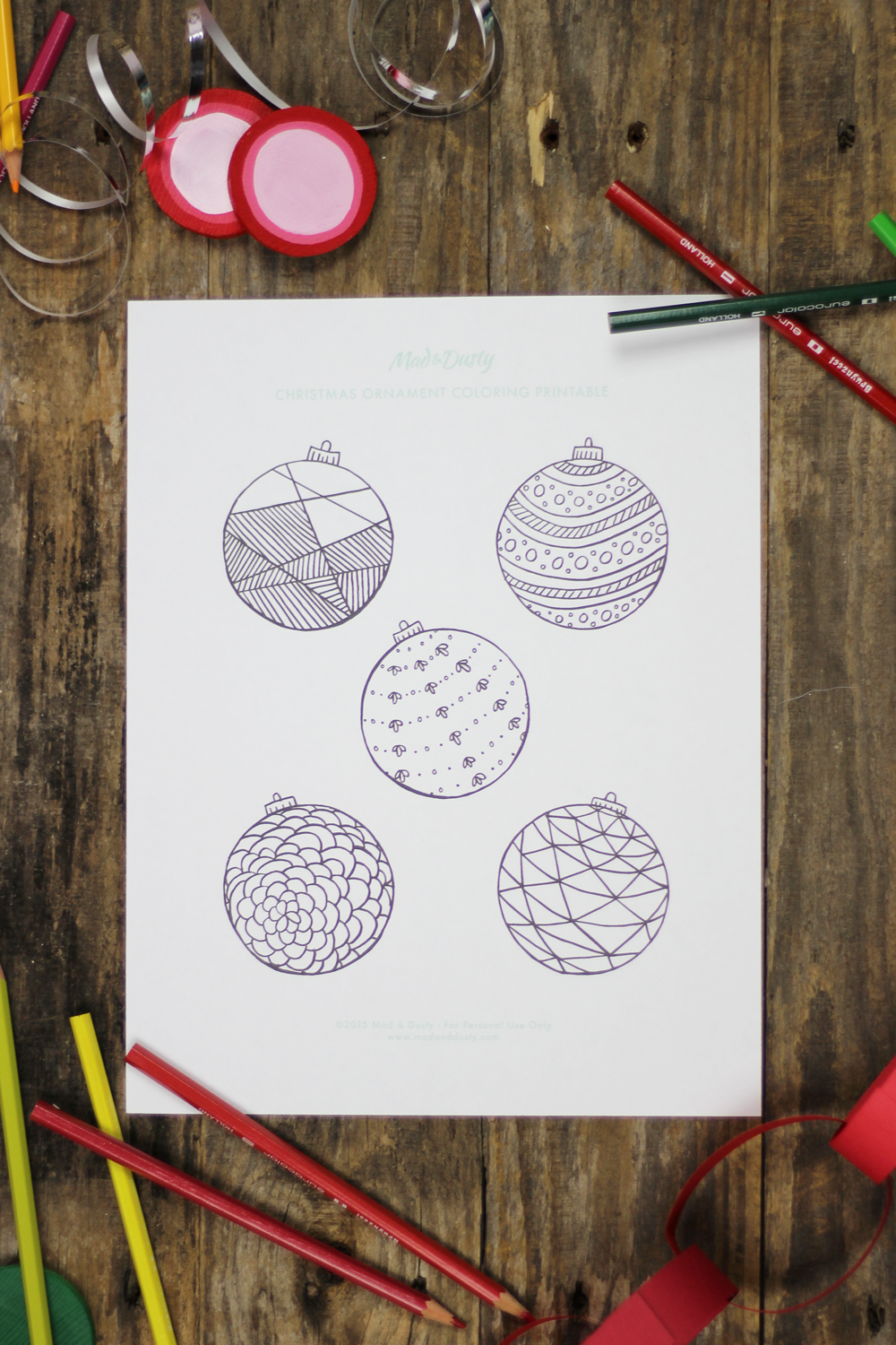 Christmas Coloring Printables for all ages.