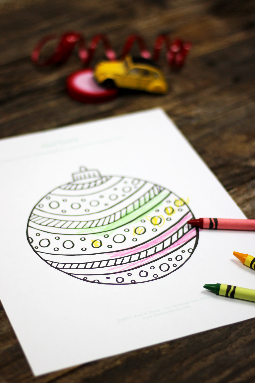 Kid's Christmas Coloring Page