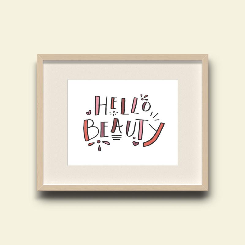 Hello Beauty Art Print for Nursery