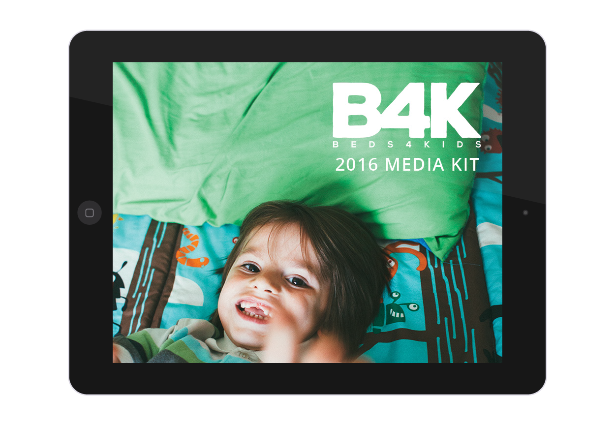 Beds4Kids Media Kit Design