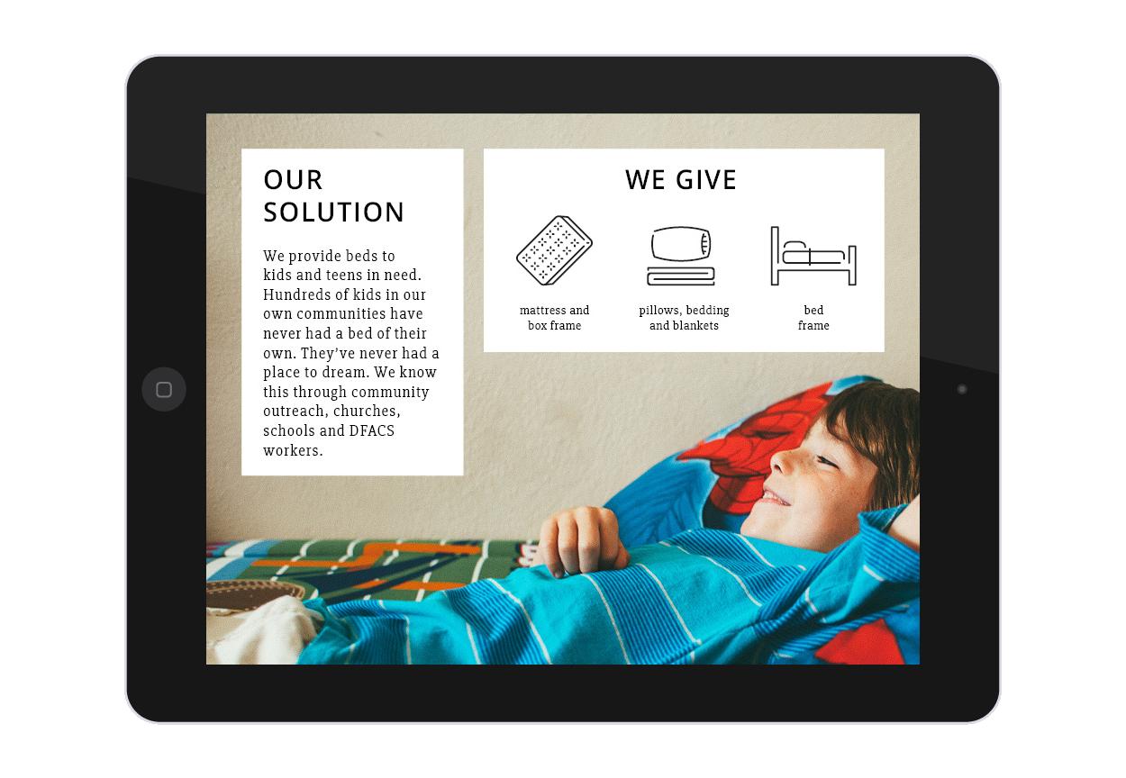 Beds4Kids Media Kit Solution Page