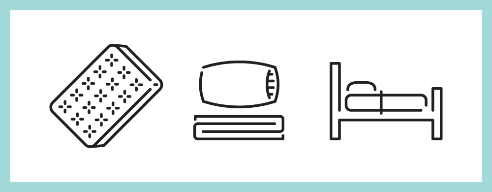 Mattress, Pillow and Bed Icons