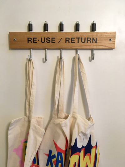 Eco-bags are also available (you can find them in the kitchen) for you to use in case you want to do a run to the convenience store for drinks and food supplies.
