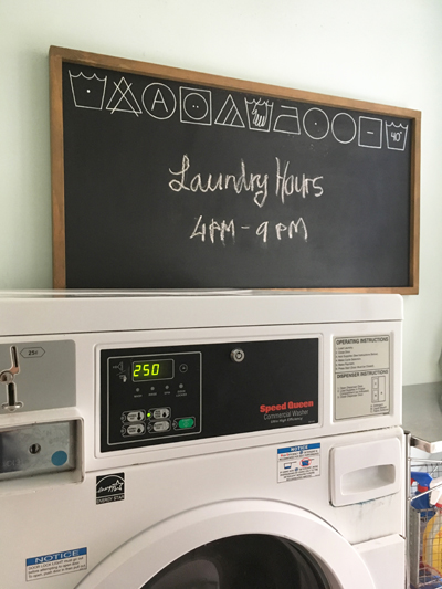 Coming from another leg of your trip and need to do laundry? A washer and dryer is available at the hostel.