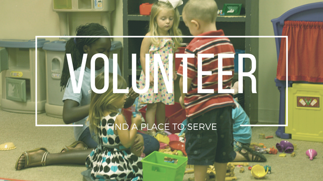 Be A Volunteer - Giving our time and talents to serve others is a part of being a follower of Christ. Find ways you can serve the church, the community and beyond.