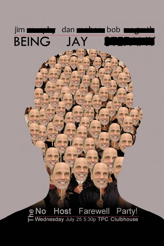 """Party announcement based off of the """"Being John Malkovich"""" movie poster"""