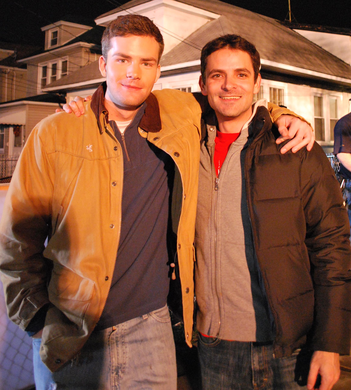 Ryan and David on-set