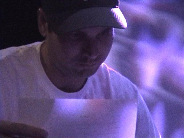 Screenwriter and playwright, Anthony Jaswinski, on-set