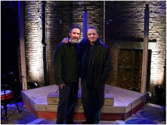 Gerry and Dennis Lehane on the set of Coronado