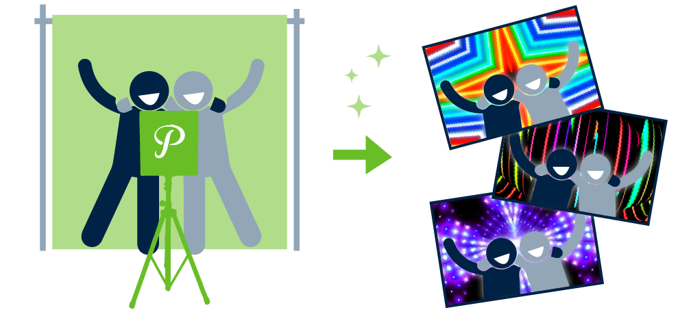Pixilated Green Screen Photo Booth