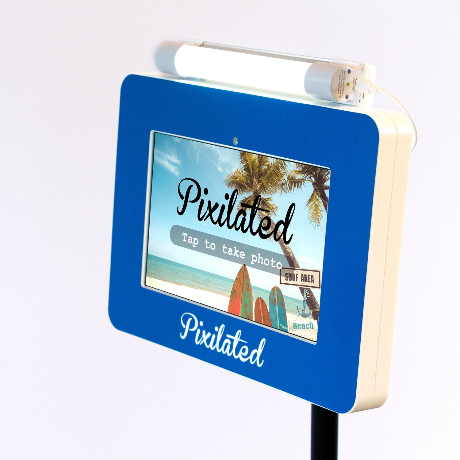 Pixilated Photo Booth Beach Theme