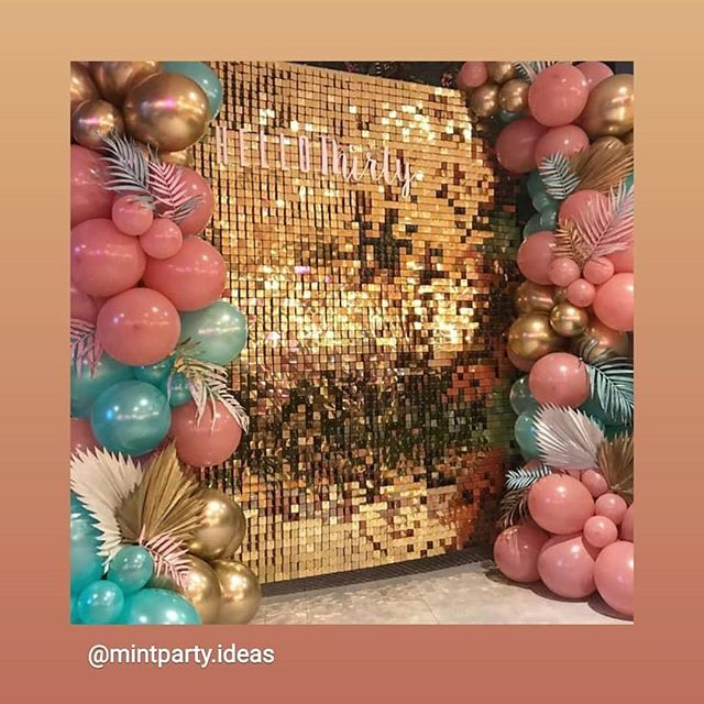 Shout out to @mintparty.ideas on this one! Hit the ♥️♥️♥️ if you'd rock this #photobooth backdrop!!! #getpixilated #eventprofs #pixilated #creativity #eventideas #photomoment #instagrammoments #instagramwall #inspo