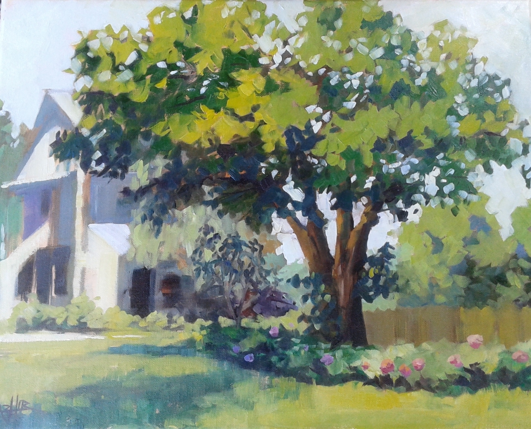 """SOLD, The Mulberry Tree at Stoney Creek Farm, Copyright 2015 Hirschten, Oil on Canvas, 16"""" x 20"""""""