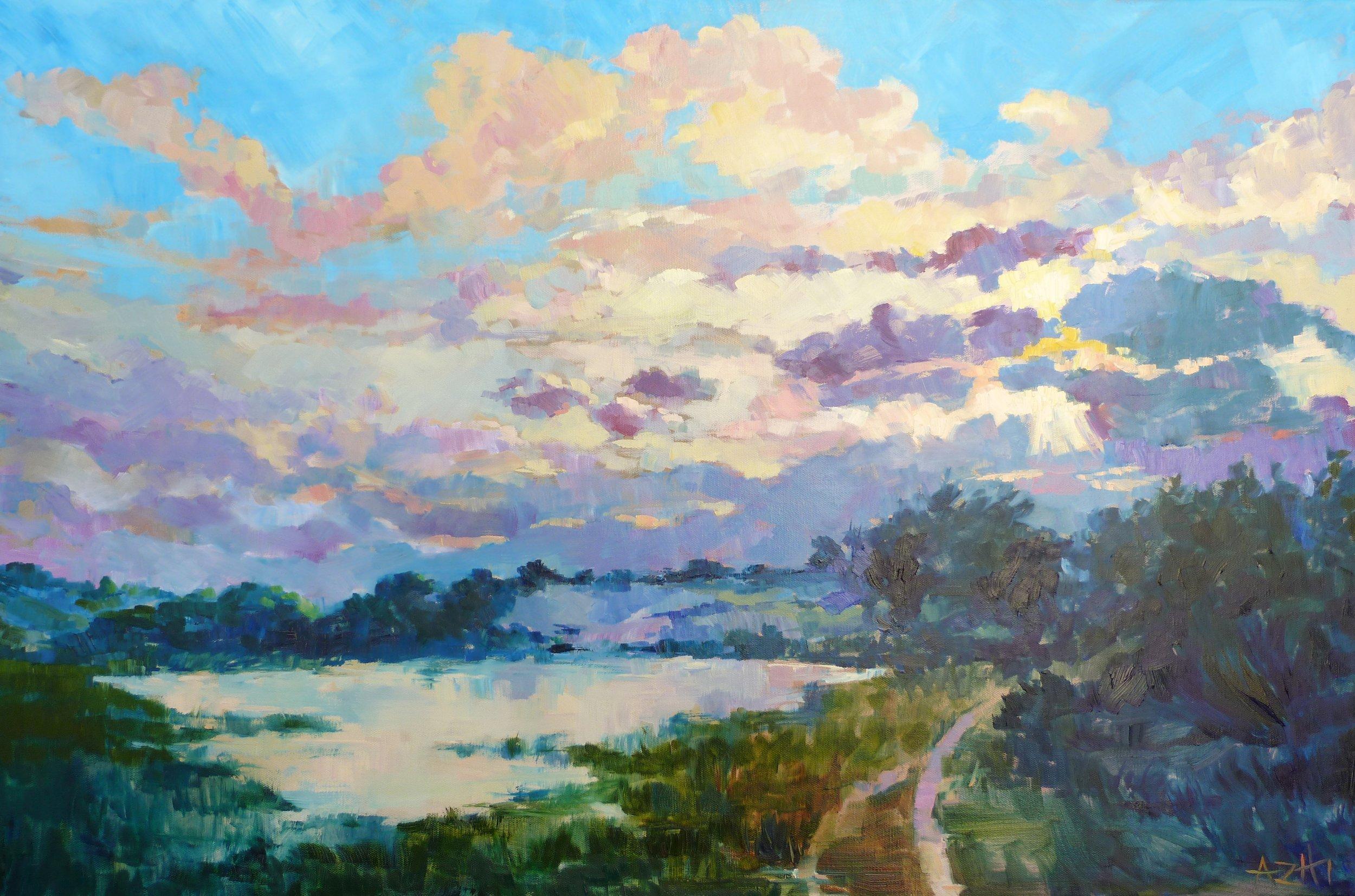 SOLD, Marsh on Carrot Island, Copyright 2015