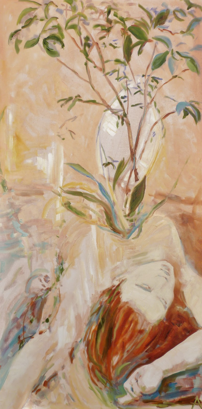 SOLD, Reincarnation, Oil on Canvas, Copyright 2012 Hirschten
