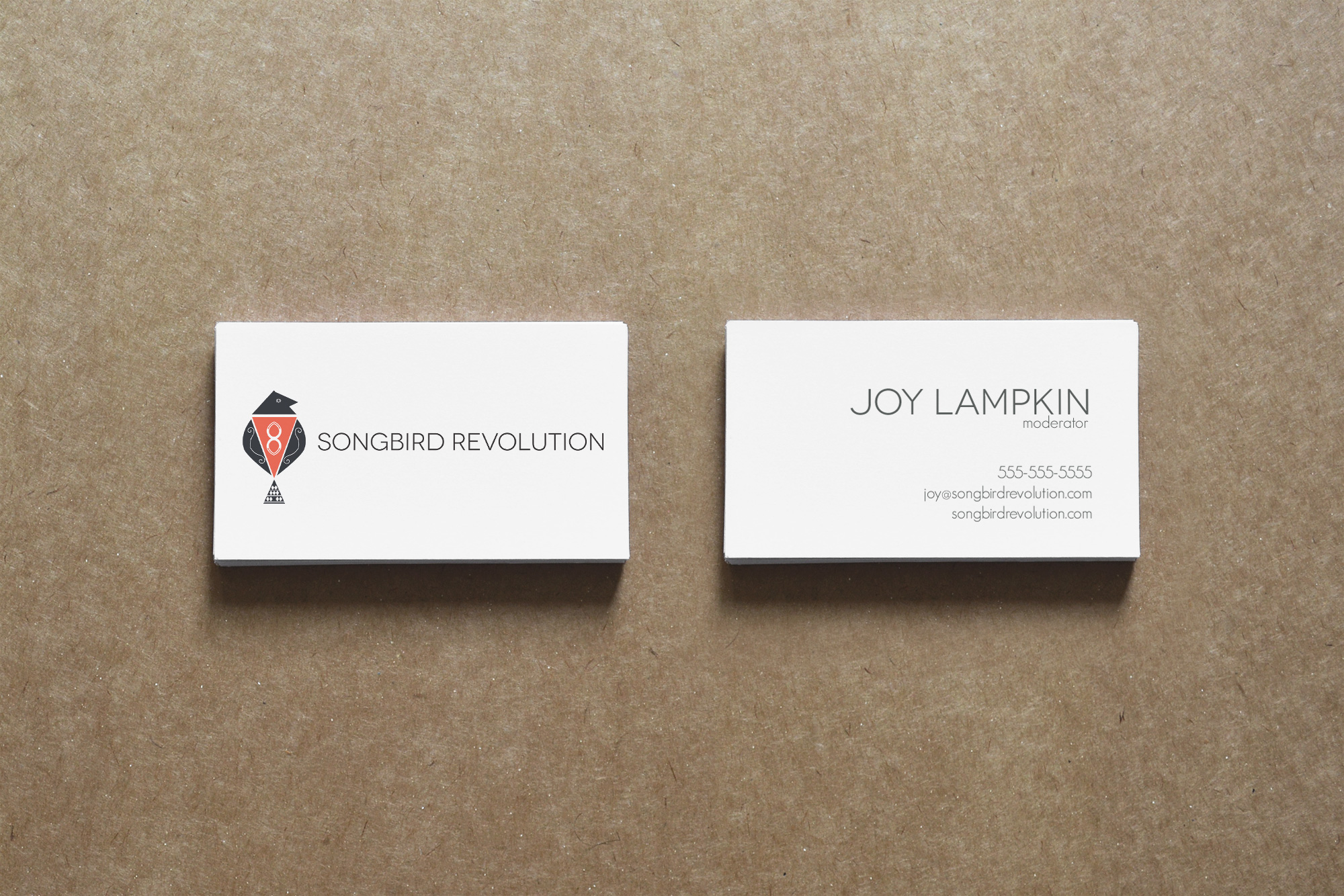 Client: Songbird Revolution  Type: Business Card