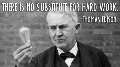 THOMS EDISON HARD WORK QUOTE