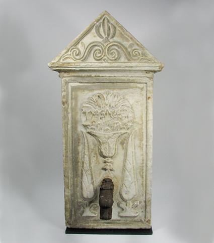 A Mediaeval Roman Marble Font, c.13-14th Century, 97x49cm $6,500