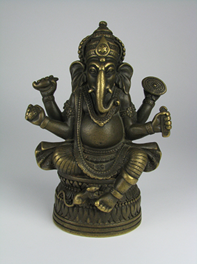A Pala Period Bronze Sculpture of Ganesha, c.11-12th Century, Eastern India, 18x12cm $10,600