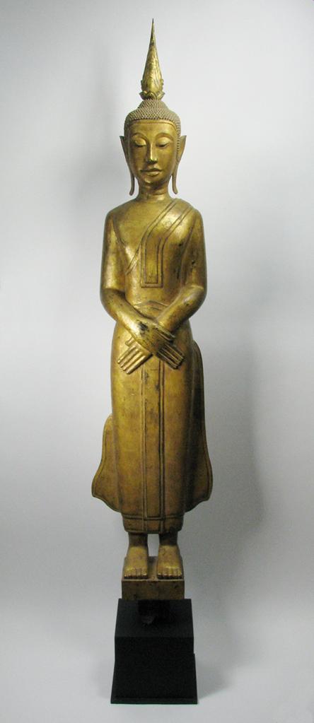 A Laos Temple Buddha, c.19th Century, 184cm $8,000