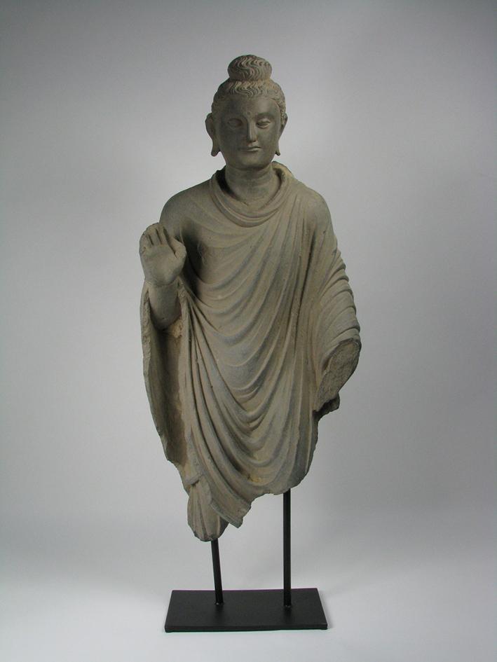 A Gandharan Schist Sculpture of Buddha, c.3rd Century AD, 75x35cm $15,000