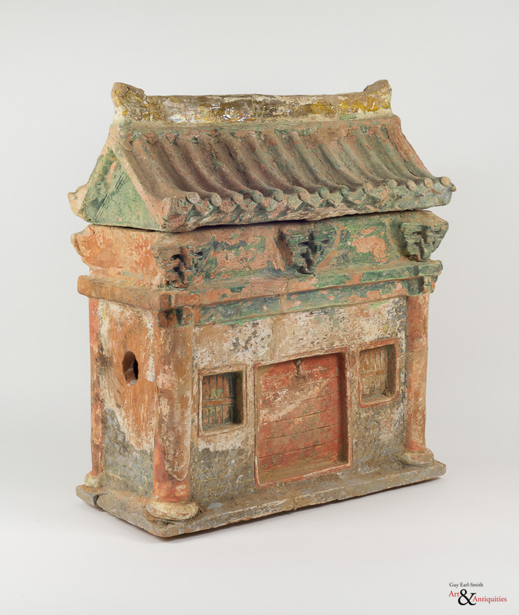 A Glazed Ming Dynasty Pottery Sculpture of a Dwelling, c. 1368-1644