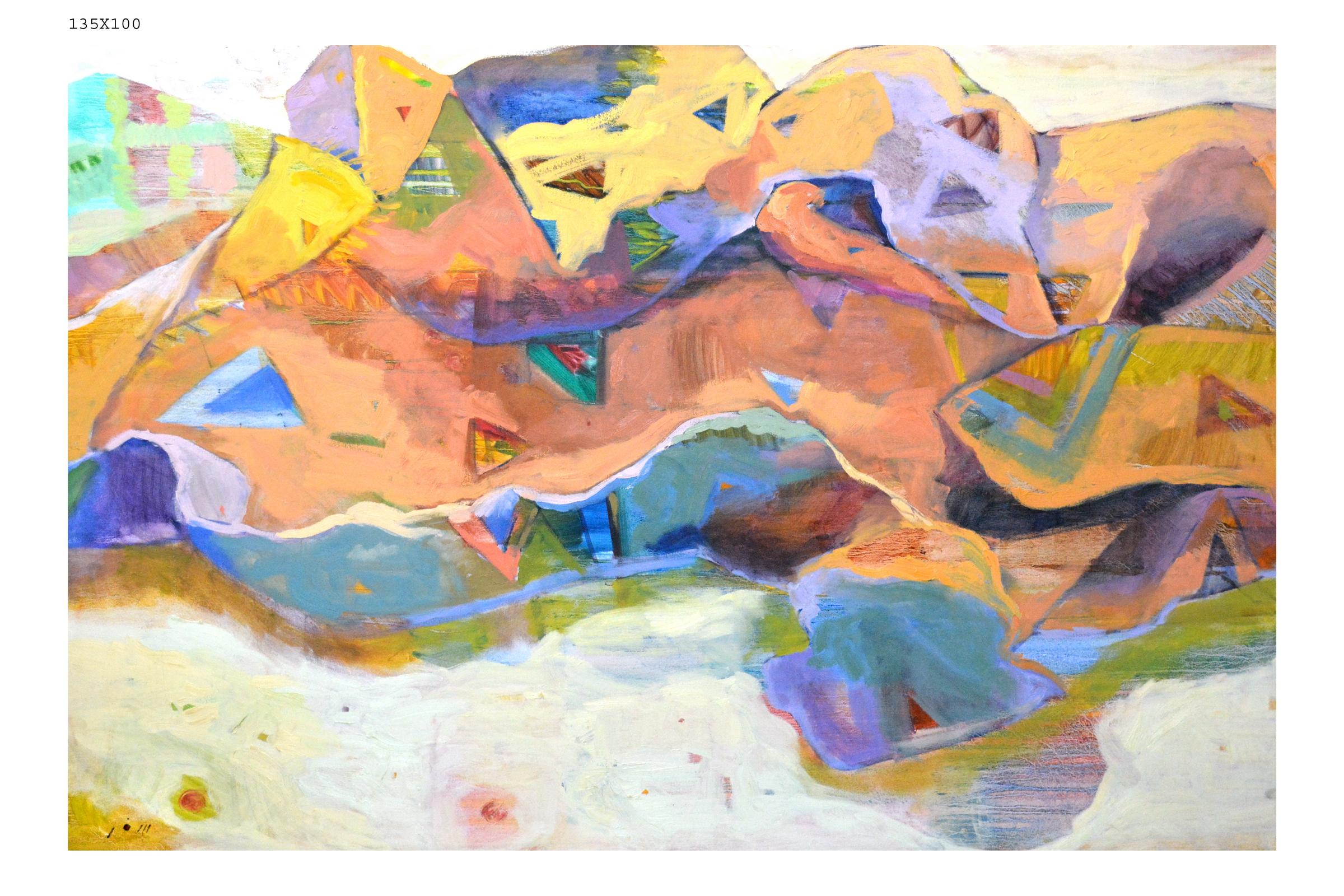042_76 - artist Bana Safar  135 in 100 oil on canvas- الفنانة بانه سفر.JPG
