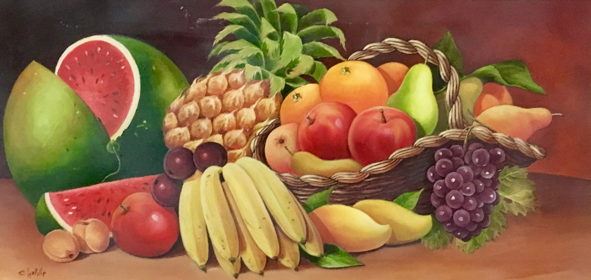 121_206 - (c) Artist Khaled Al Abdan 76 in 38 oil on canvas - الفنان خالد العبدان.JPG
