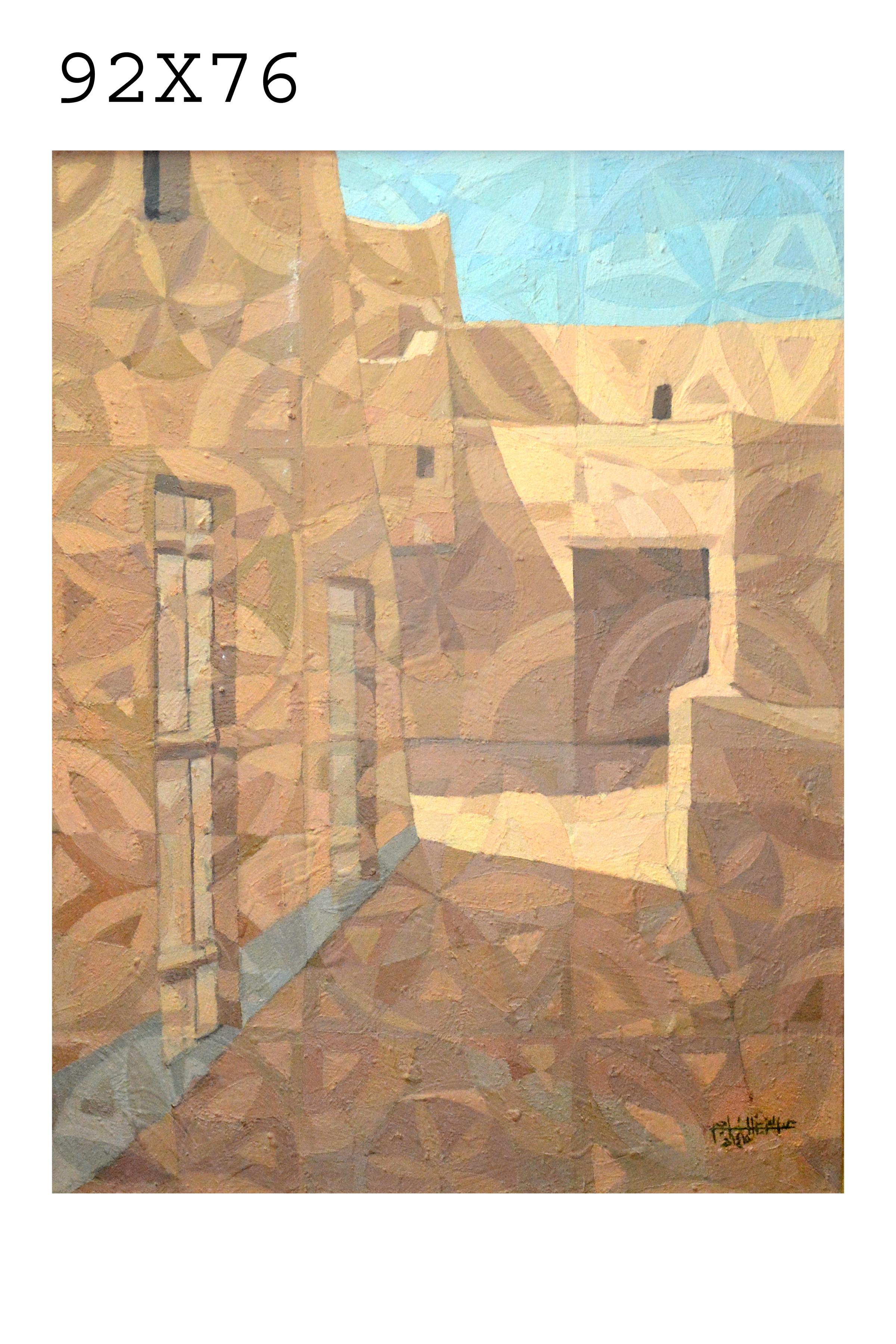 114_193 - Artist Abdul Aziz Al Najjim 92 in 76 oil on canvas - الفنان عبد العزيز الناجم.JPG